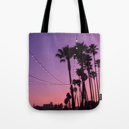 Lit Sunset Tote Bag
