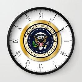 Presedent Seal Button Wall Clock