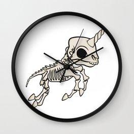 Skeleton Unicorn Wall Clock