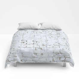Vintage White Brick Wall Comforters