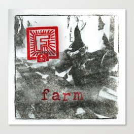 F is for farm Canvas Print
