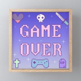 Game Over (pastel) Framed Mini Art Print
