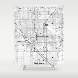 Fresno Map Gray Shower Curtain