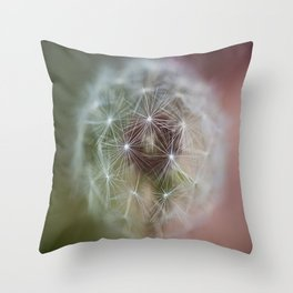 Dandelion Italian Flag Throw Pillow