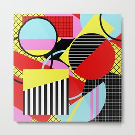 Retro Geometry - Geometric, abstract, bold design Metal Print