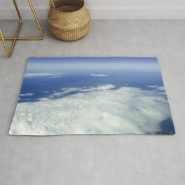 Sky Above the Clouds,Cloudscape background, Blue Sky and Fluffy Clouds Rug