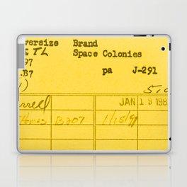 Library Card 797 Yellow Laptop & iPad Skin