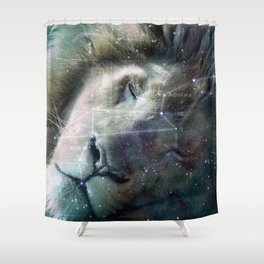 La constellation du Lion Shower Curtain