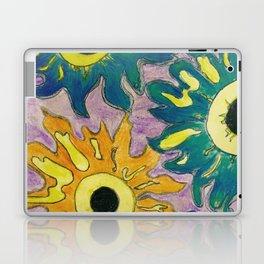 Green and orange Sunflowers. Laptop & iPad Skin