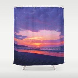 Broken sunset by #Bizzartino Shower Curtain