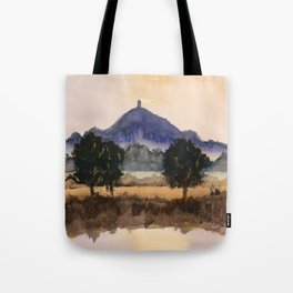 Misty Tor - Glastonbury, Somerset Tote Bag