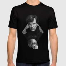 The high-functioning sociopath MEDIUM Mens Fitted Tee Black