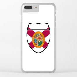 Florida Flag In An Interstate Sign Clear iPhone Case