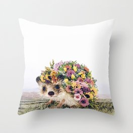 Walking Bouquet Throw Pillow