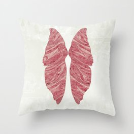 Abstract Butterfly Wings Design Throw Pillow