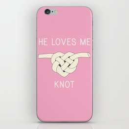 He Loves Me Knot iPhone Skin