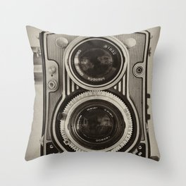 Flexaret   Vintage Camera Throw Pillow
