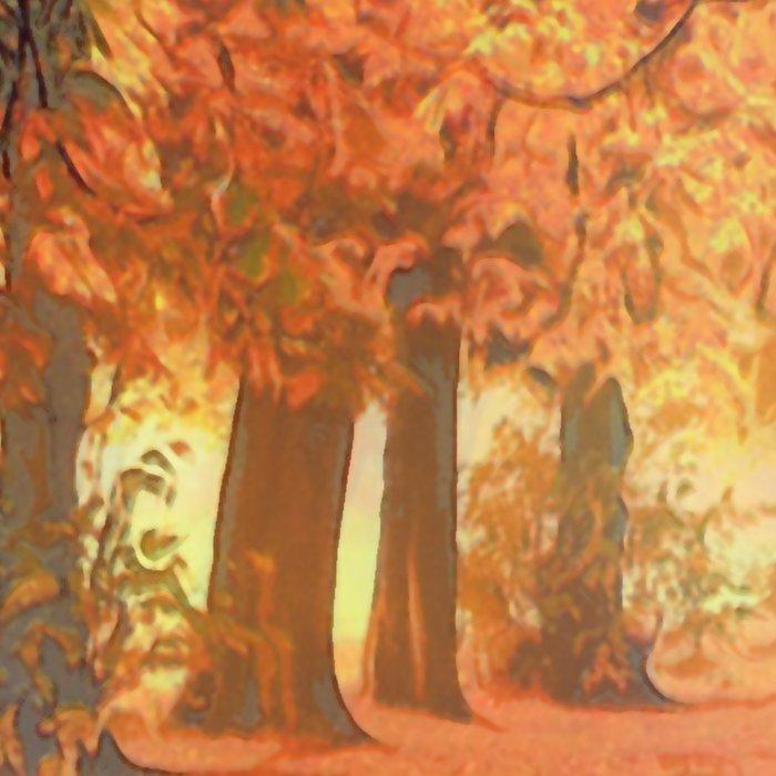 Autumn - the leaves are falling Leggings