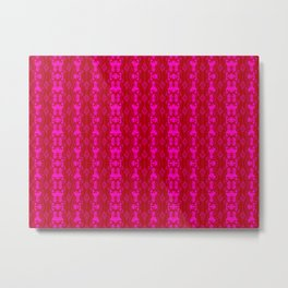 2107 Pattern as sprouted pink Metal Print