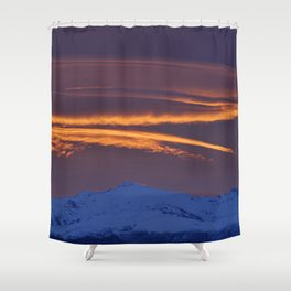 """""""Sunrise at the mountains"""" Shower Curtain"""