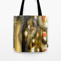 alchemy Tote Bags featuring Alchemy by John Hansen
