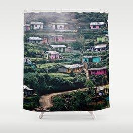 Sri Lankan Town Shower Curtain