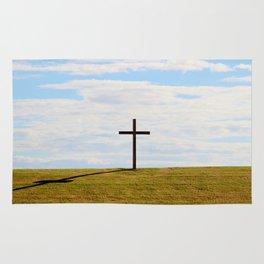 Cross On A Hill Rug