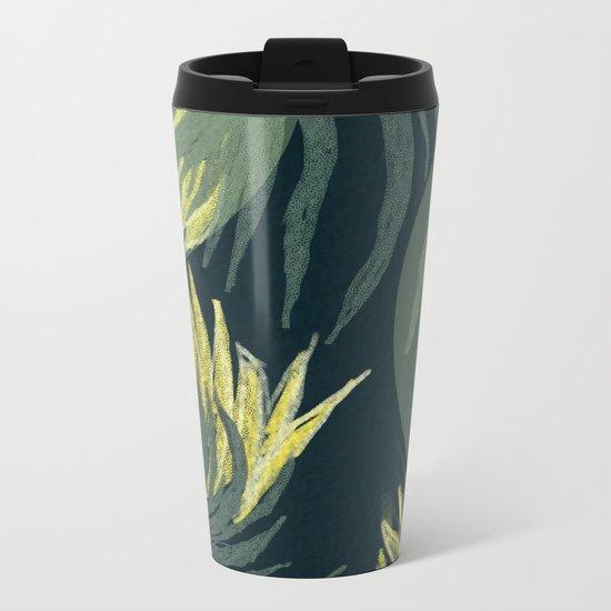 Dark palm Metal Travel Mug