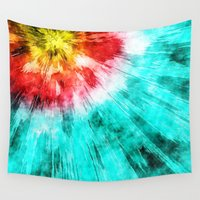 tie dye Wall Tapestries featuring Colorful Tie Dye by Phil Perkins