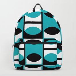 Geometric Pattern 133 (turquoise lens) Backpack