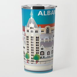 Albany, New York - Skyline Illustration by Loose Petals Travel Mug