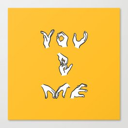 You & Me - yellow Canvas Print
