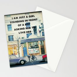 Notting Hill travel movie art Stationery Cards