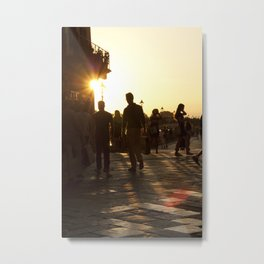 Ponte Vecchio Evening Metal Print