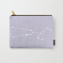 Taurus Zodiac Constellation - Lavender Carry-All Pouch