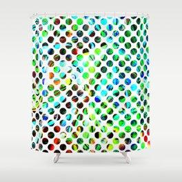 Fluid Dot Shower Curtain