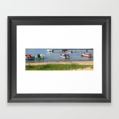 Boats in a Row Framed Art Print
