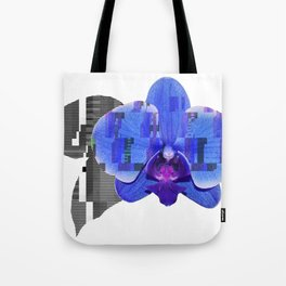 Techno Orchid Tote Bag