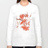 asian Long Sleeve T-shirts featuring Asian Motifs by Tatevik Sayadyan