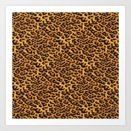 Chic Leopard Fur Fabric Art Print