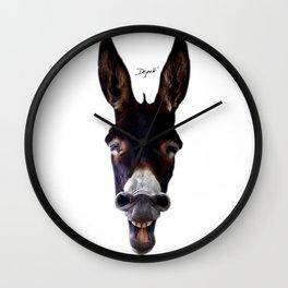 Laughing Donkey Wall Clock