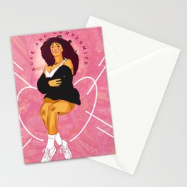 MAHALIA LOVE AND COMPASSION CHOCOLATE BARS GRAPHIC TRANSLATION Stationery Cards