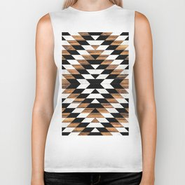 Urban Tribal Pattern No.13 - Aztec - Concrete and Wood Biker Tank
