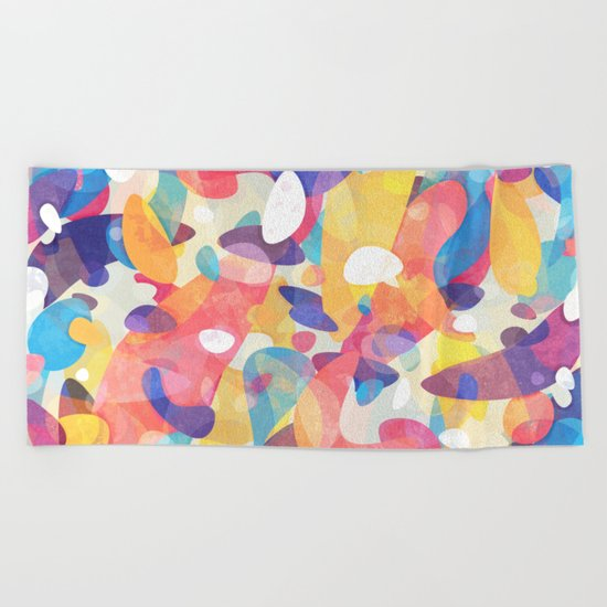 Chaotic Construction Beach Towel