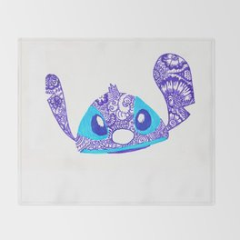 54. Henna STITCH for Easter Funny Face Throw Blanket