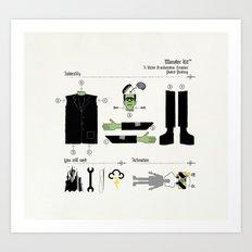 Monster Kit Art Print