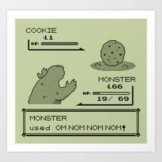 Cookiemon (Gameboy Original Version) Art Print