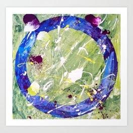 Jones Does Art | Circle | Acrylic on Canvas Art Print