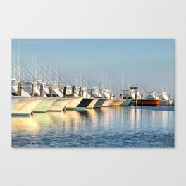 Outer Banks, Oregon Inlet Fishing Center, Fishing Boats Back Home for the Evening, OBX, NC Canvas Print