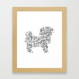 Shih Poo Shih Tzu Wall Art Shitzu Sticker Shihtzu Art Framed Art Print